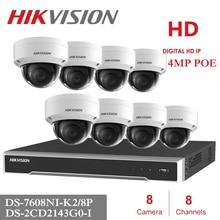 8Channels Hikvision POE NVR Video Surveillance Kits match 4MP IP Camera Netwerk Beveiliging Nachtzicht CCTV Security System