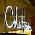 Наружная акриловая светодиодная подсветка  надпись  реклама  бизнес-магазин  передняя сторона