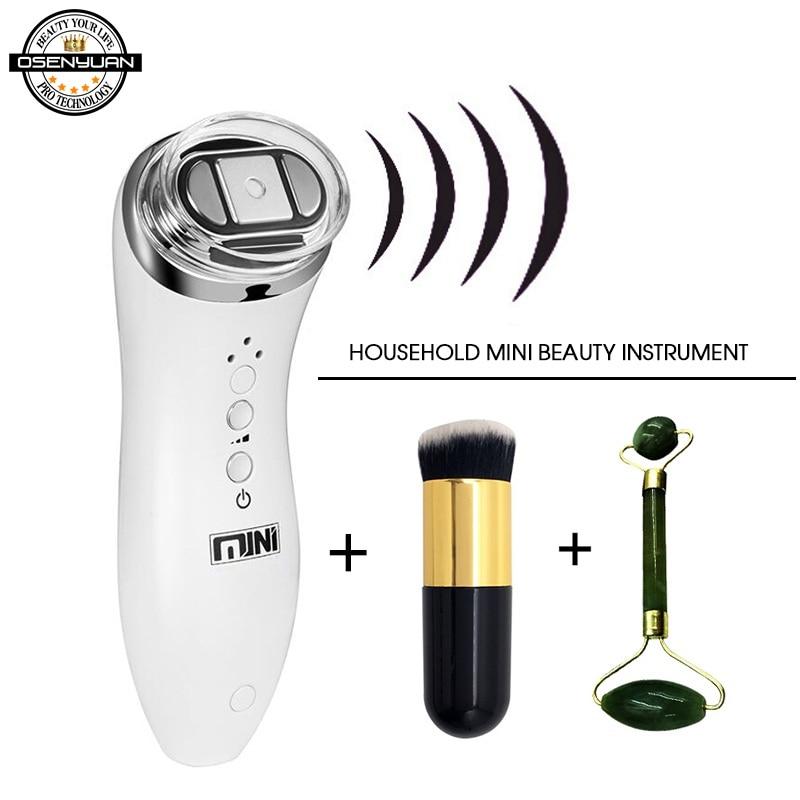 Ultrasonic Mini Hifu High Intensity Focused Ultrasound Facial Lifting Machine Face Lift RF LED Anti Wrinkle Skin Care Spa Beauty