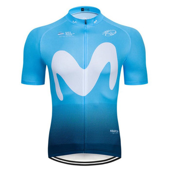 Movistar 2019 Quick Dry Short Sleeve Cycling Jersey Road Bicycle Mountain Wear Cycling Clothing Maillot Ropa Ciclismo Hombre D4