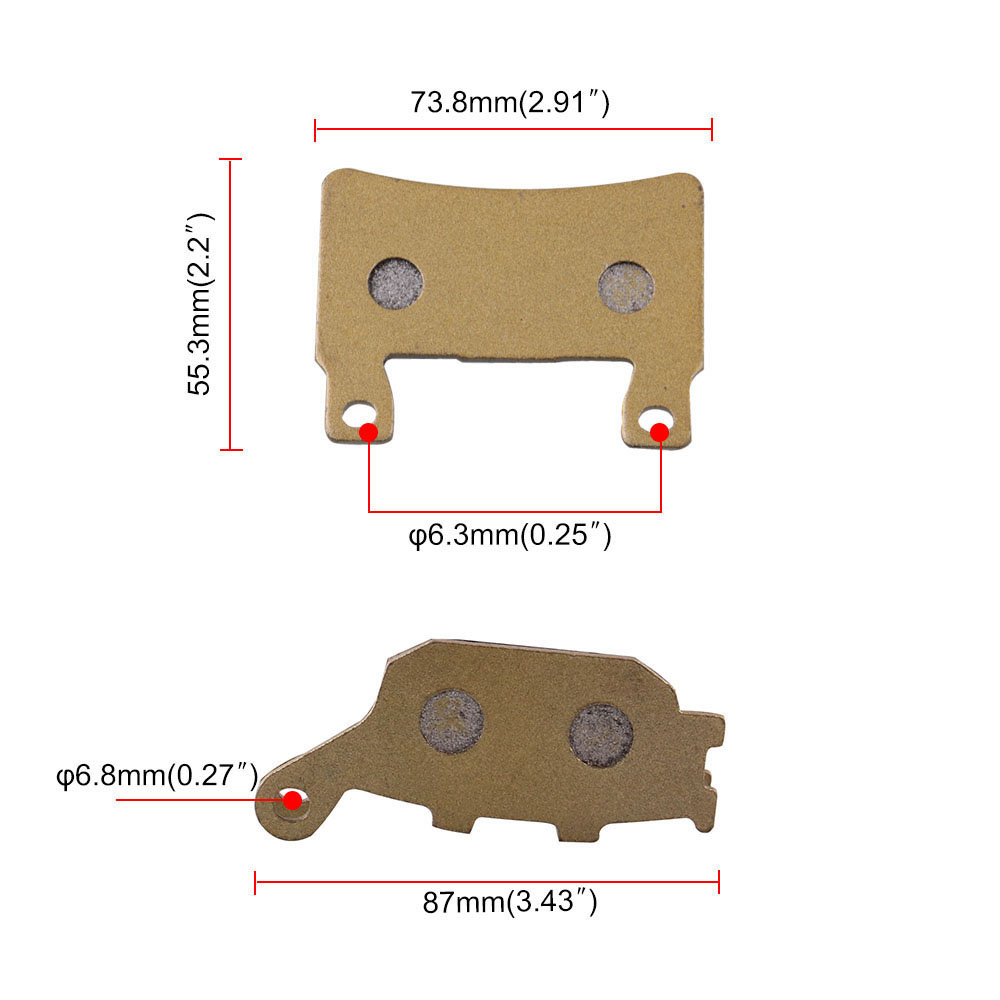 Image 4 - 6 Pieces Front And Rear Disc Brakes Motorcycle Parts High Temperature Brake Pad Groove For CBR 600 F4 F4i Motorcycle Accessories-in Brake Disks from Automobiles & Motorcycles