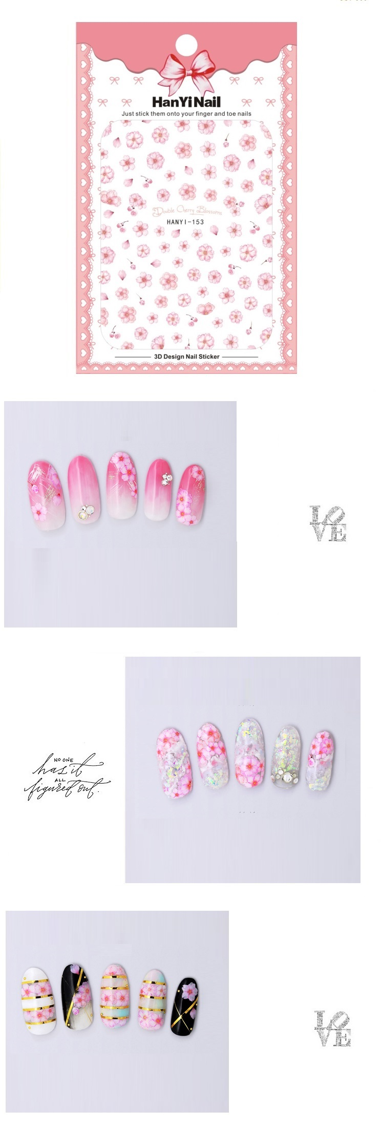 1 sheet x nail art stickerwithout retailing package