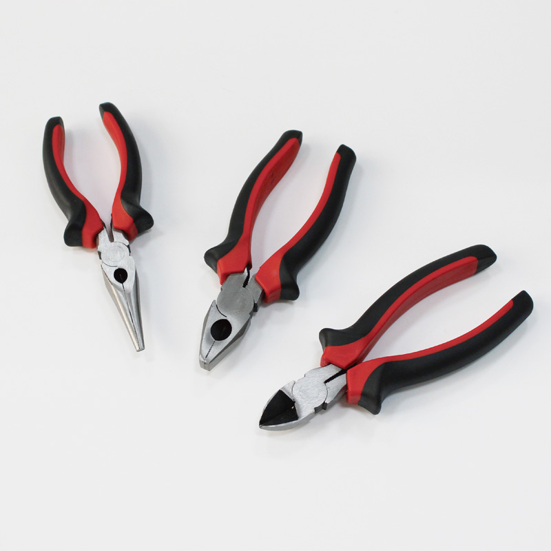 pack of 3 pieces 6 inch pliers set heavy duty diagonal long nose combination