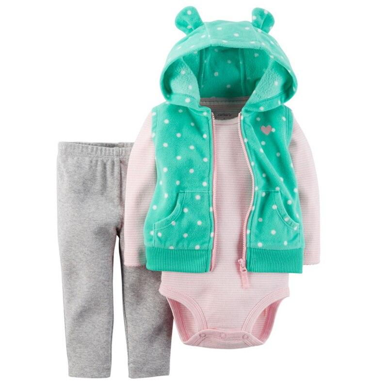 2017 nieuwe baby rompertjes kleding sets lange mouw pasgeboren baby - Babykleding