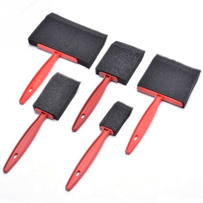 Black Painting Foam Brushes - Set of 5 3