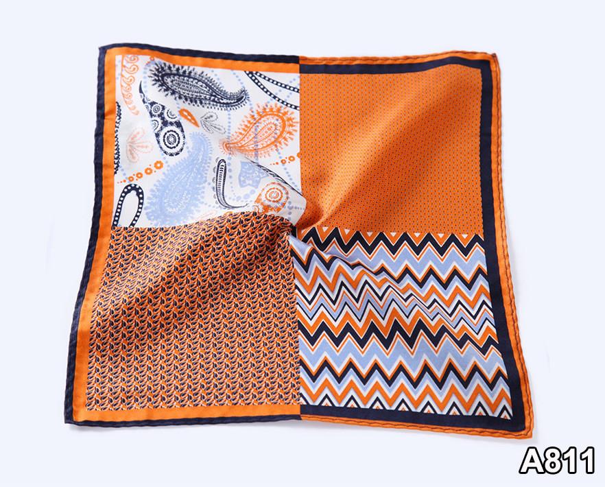 A811,HN12N)  Orange Herringbone Paisley Dot 26cm (5)