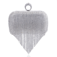 072dd5007e5 2017 Tassel Rhinestone Finger Ring Evening Bags Diamonds Wedding Handbags  Women Day Clutch Mini Purse Bag With Chain Mixed Color $48.3 $38.6