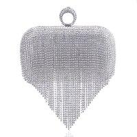 2017 Gland Strass Bague de Soirée Sacs Diamants De Mariage Sacs À Main Femmes Jour Embrayage Mini Sac À Main Sac Chaîne Mélangé Couleur
