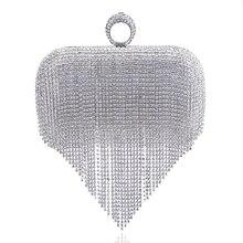 2017 quaste Strass Fingerring Abendtaschen Diamanten Hochzeit Handtaschen Frauen Tag Kupplung Mini Geldbörse Tasche Mit Kette Gemischte Farbe