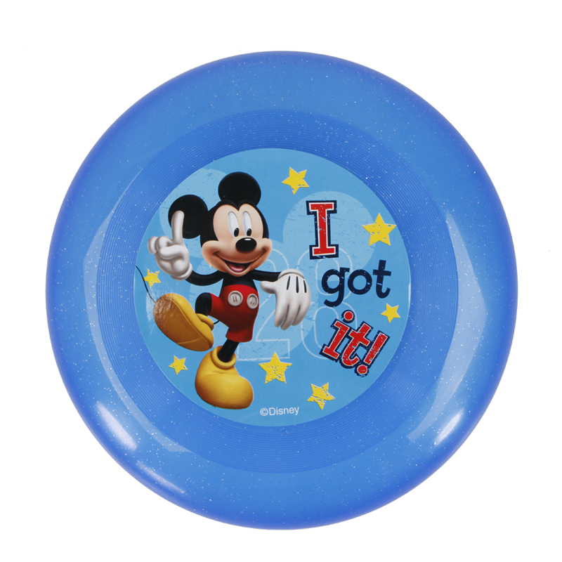 Dart Frisbie Disc Mickey And Princess Flying Disc Trainning Puppy Toy Plastic Fetch Flying Disc Frisby 21cm Beach Disc