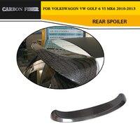 Estilo do carro de Corrida de Fibra de Carbono Spoiler Traseiro Asa Lip Para VW Golf MK6 2010-2013
