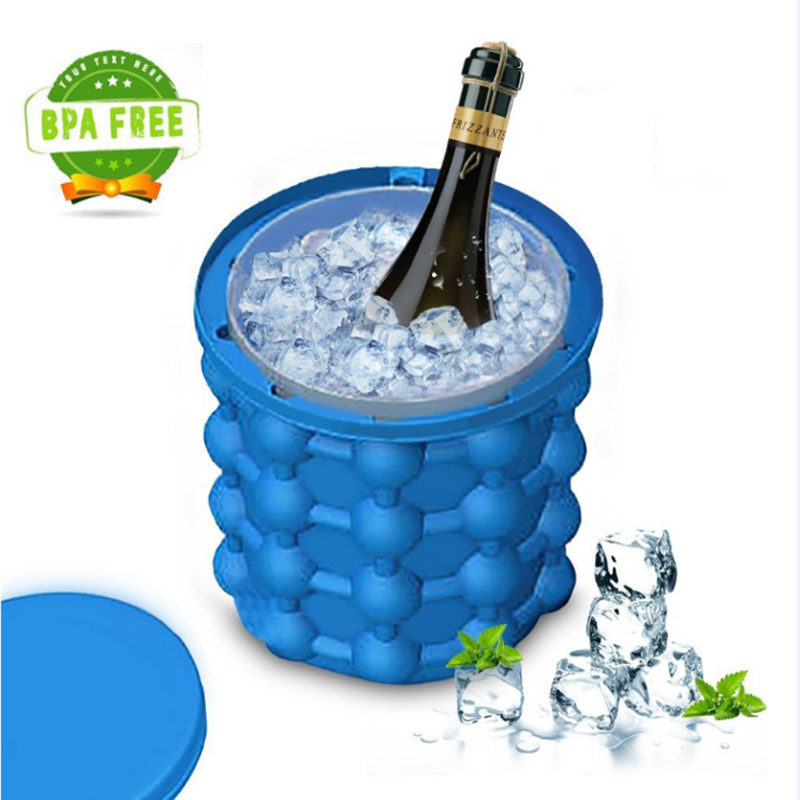 New Creative Ice Cube Maker Genie The Revolutionary Space Saving Ice Cube Maker Mold Silicone Icy Genie Tubs Maker Kitchen Tools