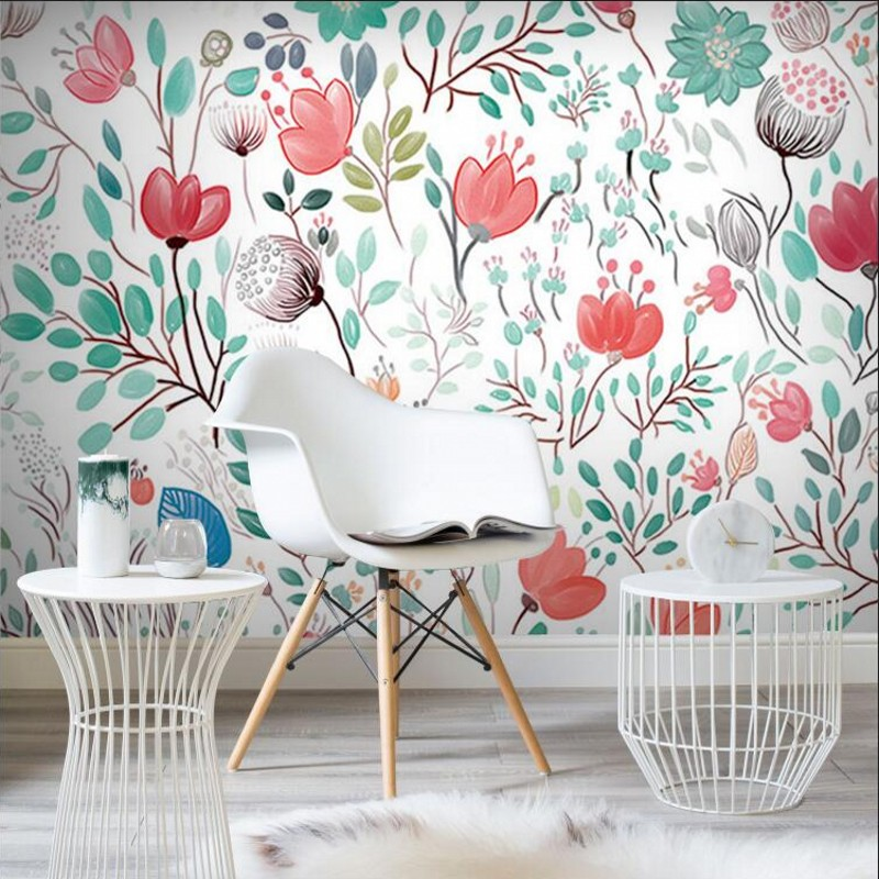 Custom papel de pa Watercolor floral wallpaper European Style hand painted flower wallpapers restaurant bedroom decor mural beibehang custom 3d wallpapers hand painted retro nostalgic abstract oil painting flowers landscape european style wallpaper