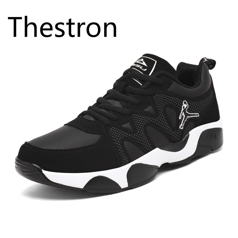 Thestron Running Shoes for Men 2017 Autumn Winter New Male Jogging Trainers Shoes Brand Sport  Sneakers Black Red White Cool