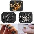 200 Unids Moda accesorios de uñas de Metal Punk Metálico Cono Spikes Uñas de Arte Consejo Decoración Del Remache DIY 02EH 4I78 7H1Y