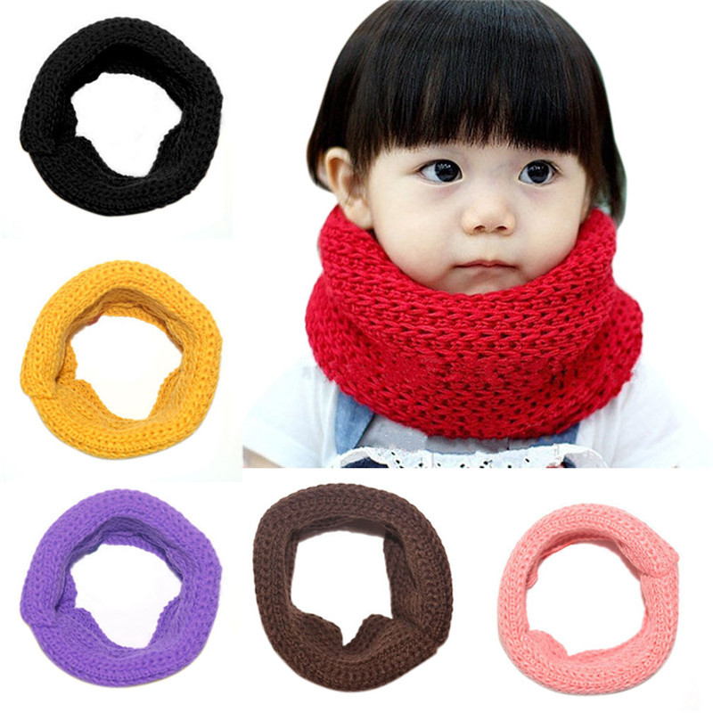 Humble Cotton Knitted O Ring Winter Scarf For Children 2018 Warm Fleece Kids Cashmere Scarves Baby Boys Girls Neck Warmer Echarpes With A Long Standing Reputation Girl's Scarves