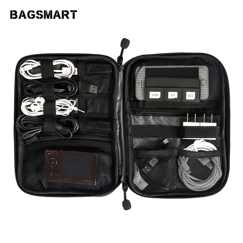 BAGSMART Electronic Accessories Bags Travel Organizer For SD Card Phone Dater Cables Earphone USB Digital Bag Organize Case