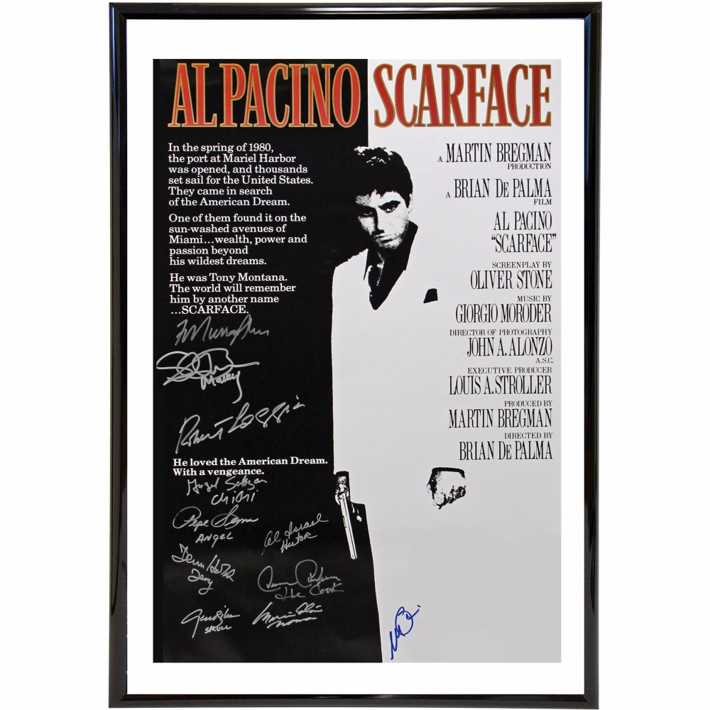 Signature Movie Scarface Canvas Art Print Painting Poster Wall Pictures For Room Decoration Home Decor No Frame Silk Fabric