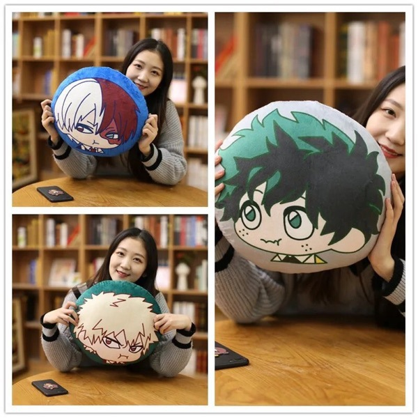 Anime My Hero Academia pillow Soft Stuffed Plush toys My Hero Pillows Plush Doll Toys For Children Christmas Pillow Gifts