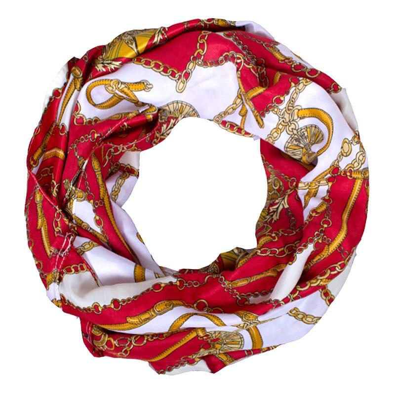 2017 New Fashion Frauen Rote Schals Für Frauen Leichter Satin - Bekleidungszubehör - Foto 2