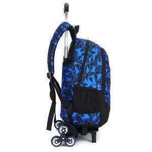 Image 3 - Школьный рюкзак для подростков со съемными детскими школьными сумками с 2/6 колесами и лестницами для мальчиков и девочек, школьный рюкзак на колесиках, сумка для багажа и книг