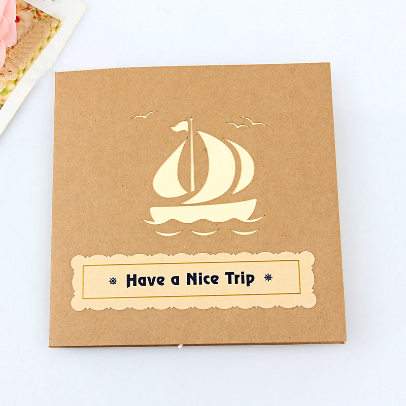 Pop Up Greeting Cards Gift Card Sailboat Handcrafted Papercraft ...