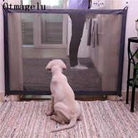 Casa di Cane di Animale Domestico Recinzioni Pet Isolato Rete Scale Cancello Pieghevole Mesh Box Per Il Gatto Del Cane di Sicurezza Del Bambino Recinzione Gabbia Del Cane accessori Per animali domestici