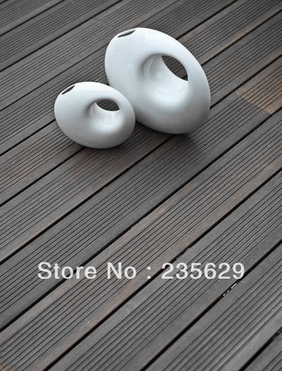 Dark Chocolate Outdoor Bamboo Decking/Ecofriendly Nature Appearance Customized Profile/Hlaf Price Cheaper Than Wood Decking
