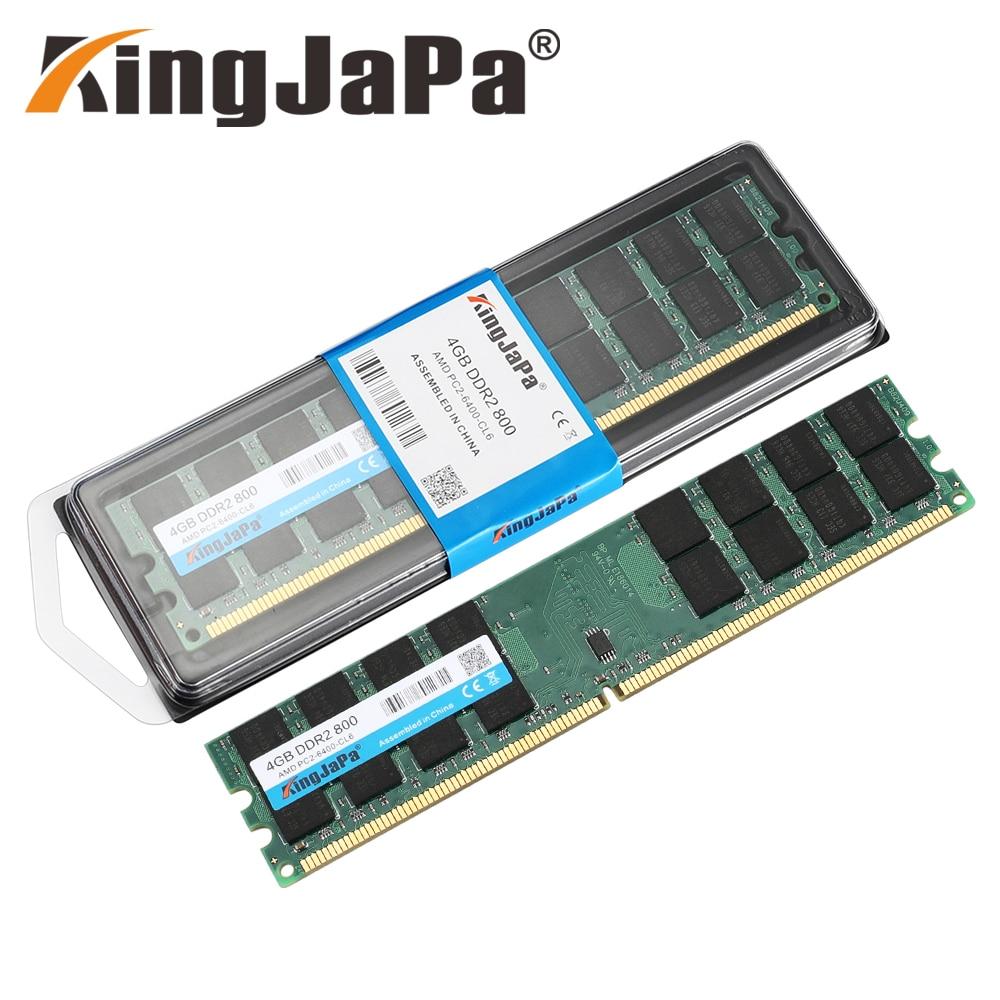 Оперативная память Kingjapa DDR2 2 ГБ, 4 Гб, 800 МГц, стандартная Память DIMM для настольного ПК, ОЗУ для системы AMD, высокая совместимость, 240 контактов, ...