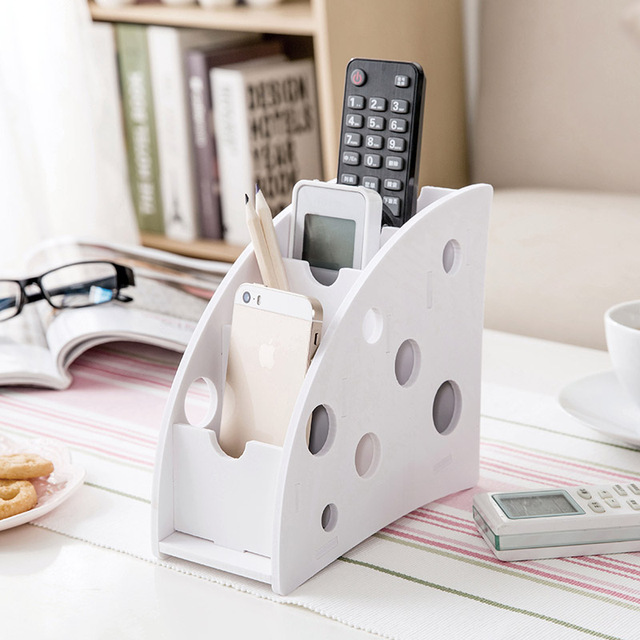 1 pcs DIY kayu TV DVD VCR Langkah rak penyimpanan Ponsel Remote Kontrol  pemegang Storage Box 96f40ca43e