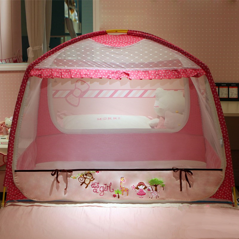 Child Bed Mosquito Net Cover 65*115*86cm Baby Rack Zipper Mosquito Repellent Cloth Mongolian Yurts Crib Tent for Kids Cot Canopy