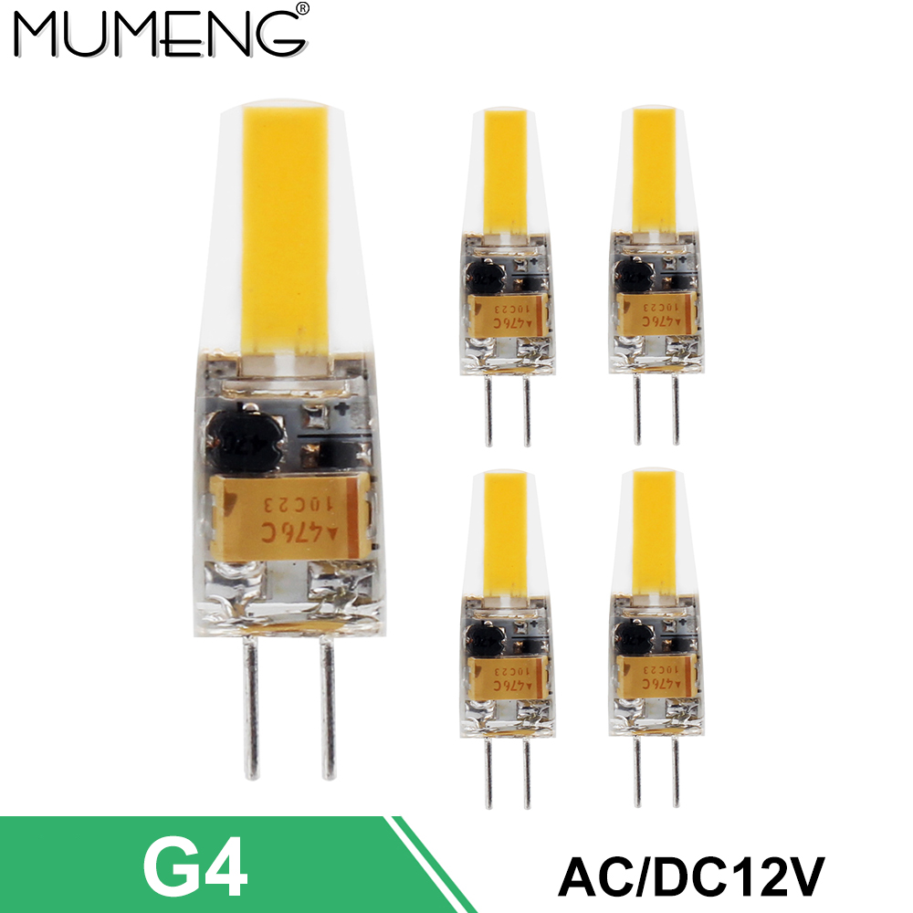 mumeng G4 LED Bulb 1pcs SMD1505 Warm Lighting Lamp AC/DC12V Light Energy saving Lampada replace Halogen Chandelier 5/10X 5x g4 ac dc 12v led bulb lamp smd 1505 3014 2835 2w 3w 4w replace halogen lamp light 360 beam angle luz lampada led