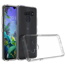 Phone Case For LG Q60 K50 Case Hybrid Bumper Clear Hard PC Acrylic Back Cover