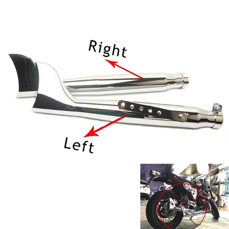Custom Motorcycle Fish Tail Galvanized Iron Exhaust Muffler For Harley Davidson