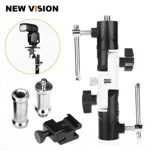 "Image 1 - Flash Shoe Swivel Umbrella Holder Light Stand 1/4"" 3/8"" Adapters Bracket U Type"