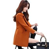 Spring and winter short woolen jacket women's new Korean version of the self cultivation professional suit collar woolen jacket