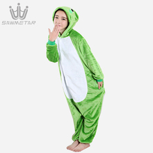 Women Kigurumi Pijama Animal Adult Pajamas Set Cosplay Cartoon Animal Panda Pig Sleepwear Winter Hooded Onesie 2019 New Style