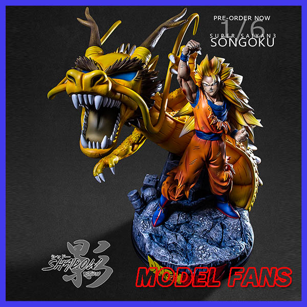 Modèle FANS en STOCK ombre Dragon Ball Z super saiya 3 goku dragon poing gk résine statue jouet pour collection