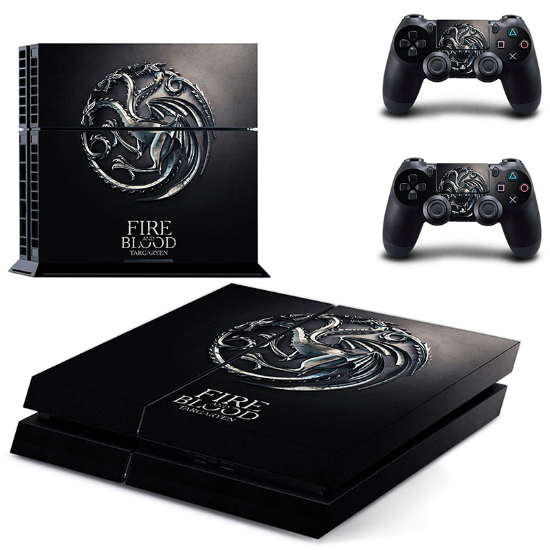 HOMEREALLY PS4 Skin Game FIRE AND BLOOD TARGARYEN Decal Sticker Cover For Playstation 4 Console and Controller For Ps4 Accessory
