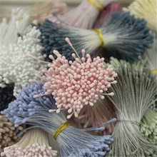 400pcs 1mm Retro Matte Double Heads Mini Flower Stamen Pistil Wedding Decoration DIY Fake Christmas Scrapbook Accessories