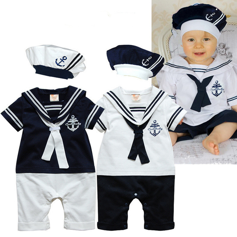 Baby Rompers 2017 Baby Boy Clothes Summer Baby Girl Clothing Navy Style Newborn Baby Clothes Roupas Bebe Infant Jumpsuits summer 2017 navy baby boys rompers infant sailor suit jumpsuit roupas meninos body ropa bebe romper newborn baby boy clothes
