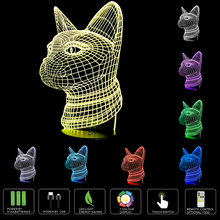 7 Color Changing Gradient Night Light Cat 3D Led Bedroom Table Atmosphere illusion Lamp Home Party Lighting Decor New Year Gifts