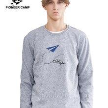Pioneer camp новые толстые толстовки мужские брендовые толстовки Одежда повседневные флисовые толстовки с принтом мужские хлопок осень AWY806090