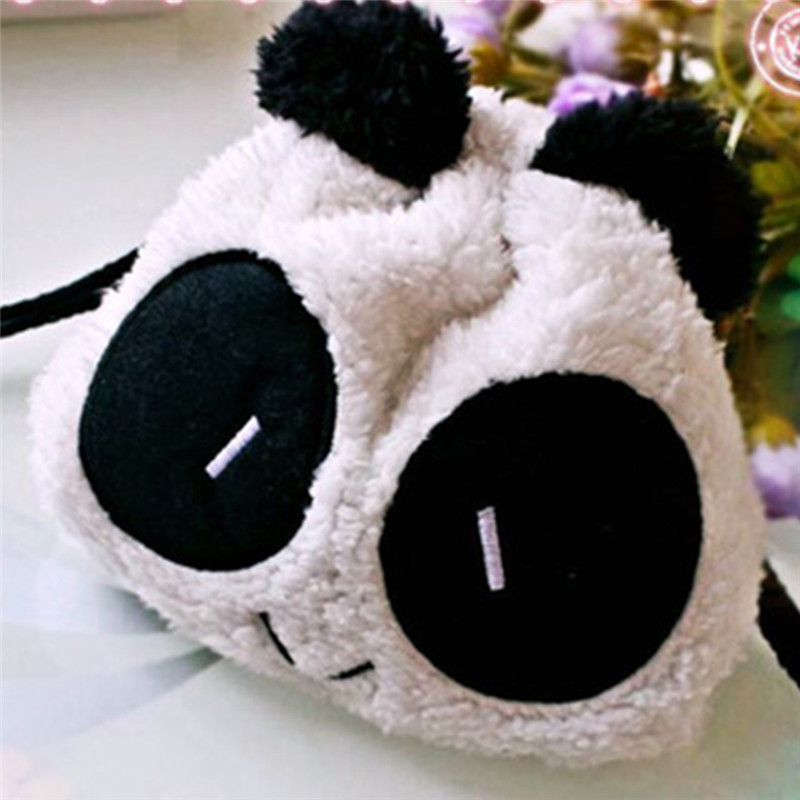Women Cute Kawaii Plush Panda Makeup Bag Girls School Supplies neceser make up bag makeup pouch cosmetic bag(China)