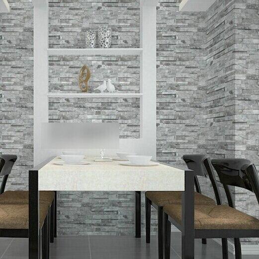 Beibehang PVC Vintage papier peint 3D brique de bois conçoit rayure modèle chambre TV canapé noir décoration de la maison papier peint R456