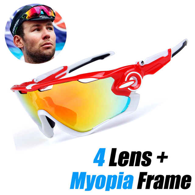 4 Lens Brand New Jaw Outdoor Sports Cycling Sunglasses Eyewear TR90 Men Women Bike Bicycle Cycling Glasses Goggles