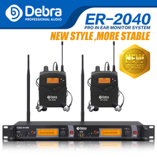 The best sound quality!!! Professional UHF In Ear Monitor System! Dual Channel Monitoring ER-2040 five bodypack receiver uhf wireless in ear monitor system professional stage monitoring g2 cordless one transmitter in headphone