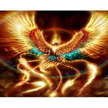 5d DIY Diamond Painting Beautiful phoenix Full Square Drill Mosaic Cross Stitch Embroidery home Decor Y2964