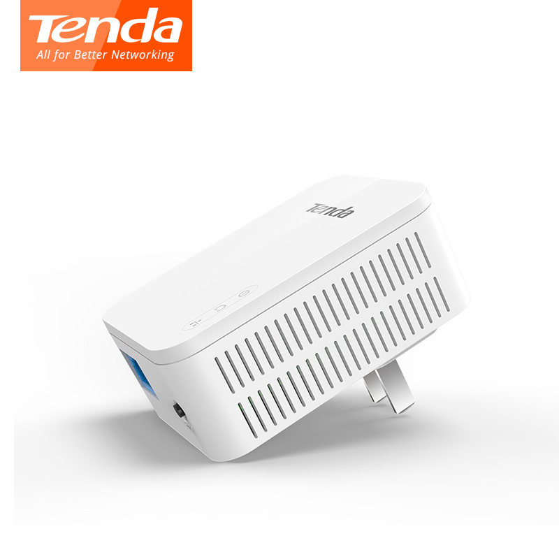 1PCS Tenda PH3 1000Mbps Ethernet Network Powerline Adapter, Homeplug AV1000  Full Gigabit Speed For UHD Steaming