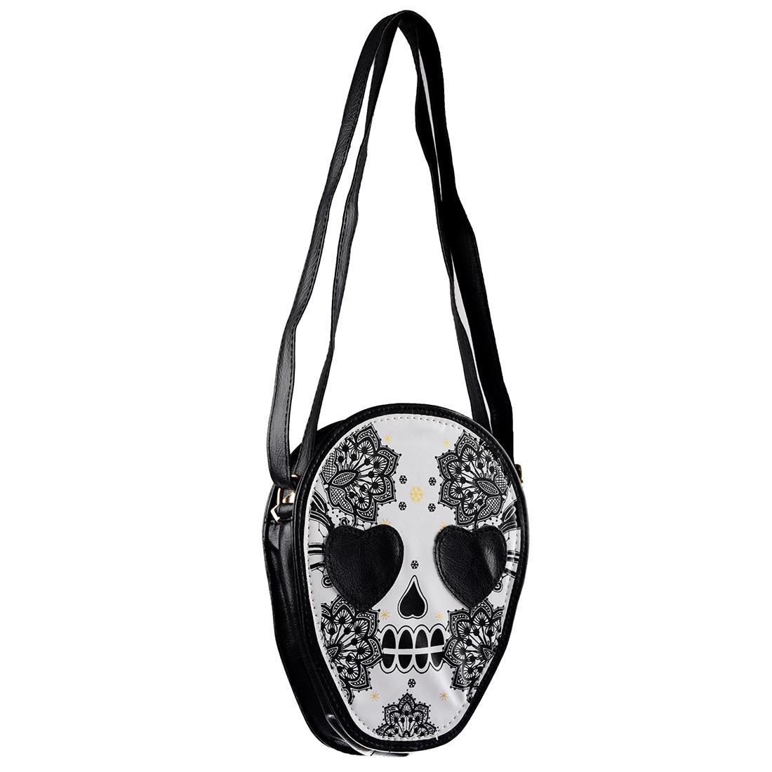 Woman Mini Personalized Messenger Handbag Cute Skull Head Crossbody/Shoulder Bag